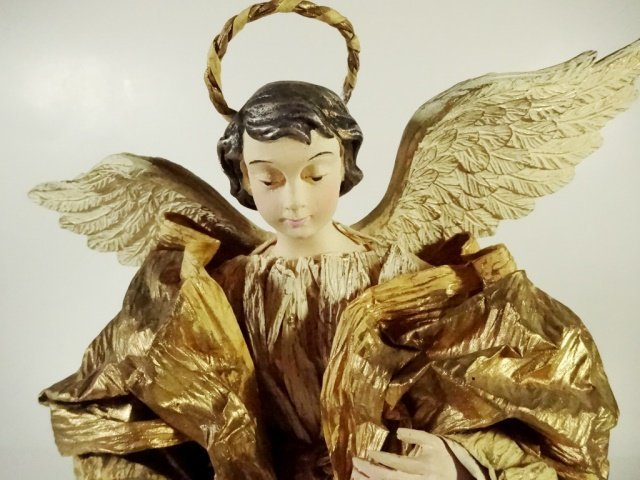 CHRISTMAS DECOR - ANGEL ON STAND / TREE TOPPER, OFF - 2