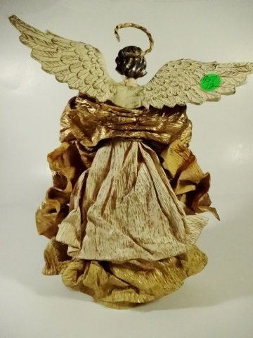 CHRISTMAS DECOR - ANGEL ON STAND / TREE TOPPER, OFF - 4