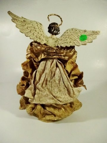 CHRISTMAS DECOR - ANGEL ON STAND / TREE TOPPER, OFF - 5