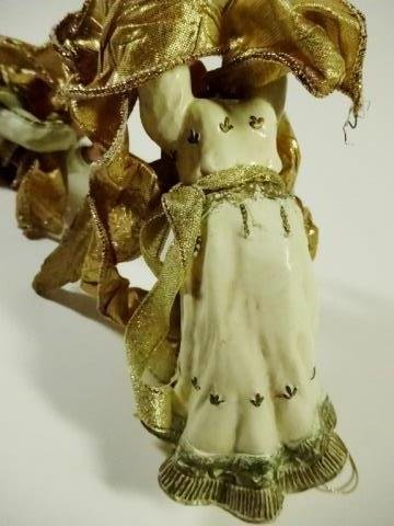 2 PC CHRISTMAS DECOR, ORNAMENT GOLD ANGELS WITH - 3
