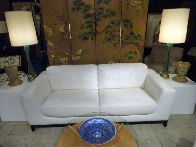 MODERN DESIGN WHITE LEATHER SOFA, HIGH QUALITY LEATHER, - 10