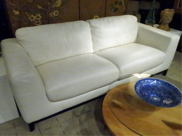 MODERN DESIGN WHITE LEATHER SOFA, HIGH QUALITY LEATHER,