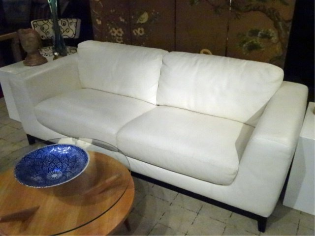 MODERN DESIGN WHITE LEATHER SOFA, HIGH QUALITY LEATHER, - 3