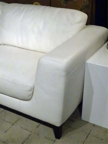 MODERN DESIGN WHITE LEATHER SOFA, HIGH QUALITY LEATHER, - 4
