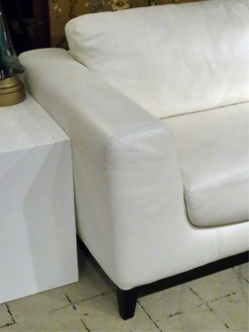 MODERN DESIGN WHITE LEATHER SOFA, HIGH QUALITY LEATHER, - 7