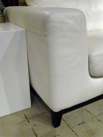 MODERN DESIGN WHITE LEATHER SOFA, HIGH QUALITY LEATHER, - 8