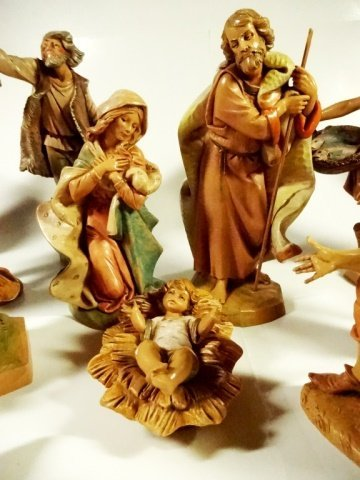 21 PC CHRISTMAS DECOR - ITALIAN NATIVITY FIGURINES, - 3