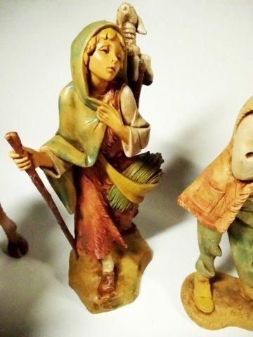 21 PC CHRISTMAS DECOR - ITALIAN NATIVITY FIGURINES, - 8