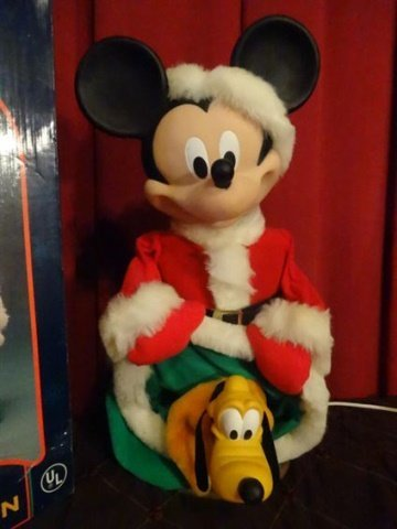 ANIMATED CHRISTMAS MICKEY MOUSE FIGURE, WALT DISNEY, IN - 2