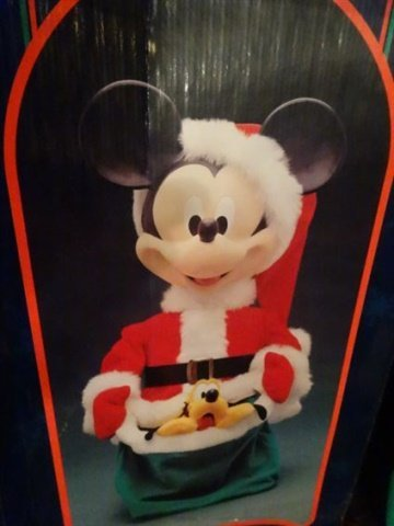 ANIMATED CHRISTMAS MICKEY MOUSE FIGURE, WALT DISNEY, IN - 5