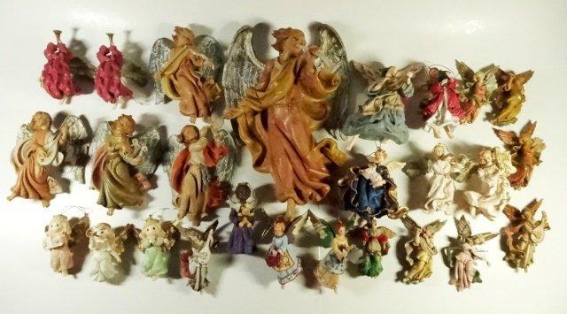 26 PC CHRISTMAS DECOR - ANGEL ORNAMENTS & WALL HANGINGS