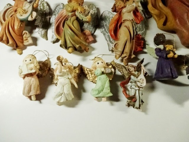 26 PC CHRISTMAS DECOR - ANGEL ORNAMENTS & WALL HANGINGS - 5