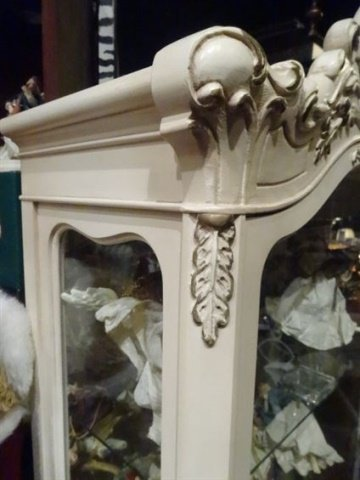 LOUIS XV STYLE ROCOCO VITRINE, CARVED WOOD WITH - 5