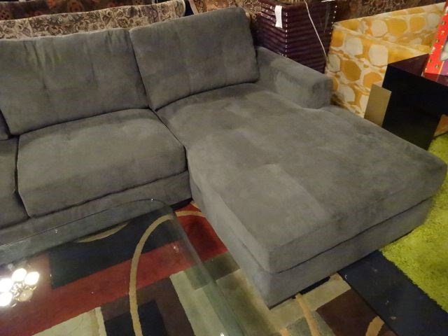 NEW MODERN 2 PC SECTIONAL SOFA, RIGHT HAND CHAISE, GRAY - 7