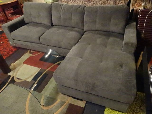 NEW MODERN 2 PC SECTIONAL SOFA, RIGHT HAND CHAISE, GRAY - 8