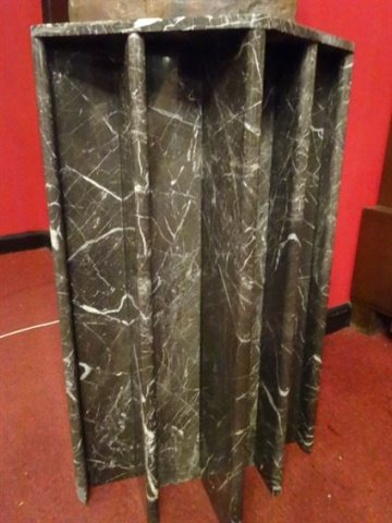 MODERN GRAY MARBLE PEDESTAL OR TABLE BASE, VERY GOOD - 2