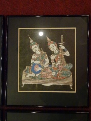 4 THAI FIGURAL PRINTS, MATTED AND FRAMED, EXCELLENT - 4