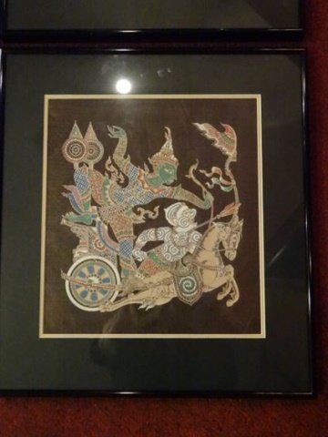 4 THAI FIGURAL PRINTS, MATTED AND FRAMED, EXCELLENT - 5