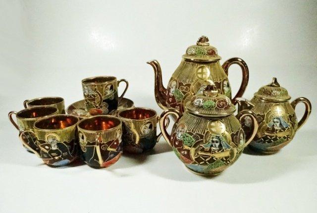15 PC MIKADO JAPAN DEMITASSE TEA SET, INCLUDES TEAPOT,