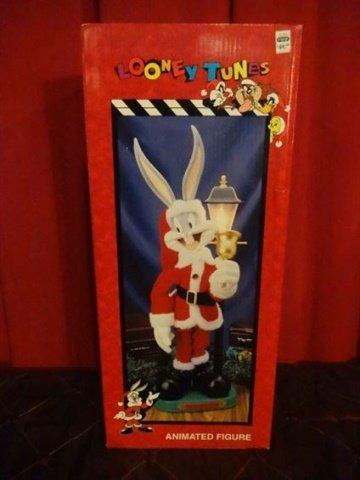 ANIMATED CHRISTMAS BUGS BUNNY FIGURE, IN ORIGINAL
