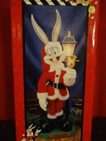 ANIMATED CHRISTMAS BUGS BUNNY FIGURE, IN ORIGINAL - 2