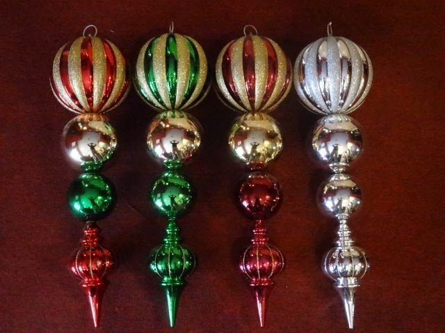"4 LARGE CHRISTMAS ORNAMENTS, 28""H, SKU950.44 BX085 - 5"