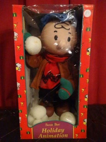 LARGE ANIMATED CHRISTMAS CHARLIE BROWN FIGURE, IN