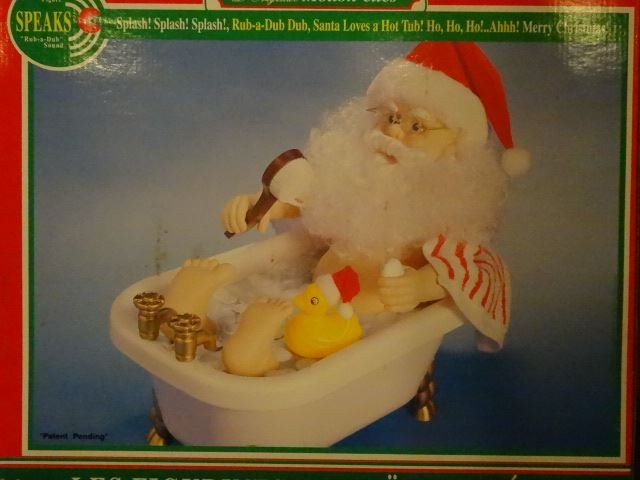 LARGE TALKING CHRISTMAS SANTA FIGURE IN BATHTUB, IN - 2