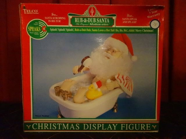LARGE TALKING CHRISTMAS SANTA FIGURE IN BATHTUB, IN - 7