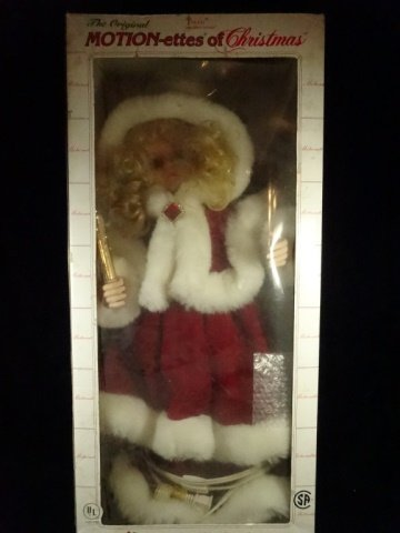 CHRISTMAS ANIMATED LIGHTED GIRL WITH RED CLOAK, WITH