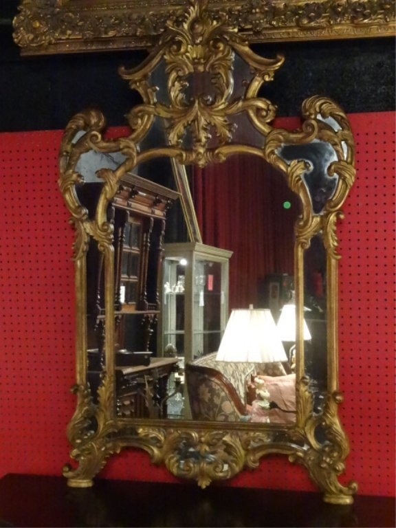 LARGE ROCOCO GILT WOOD MIRROR, VERY GOOD CONDITION, 58""