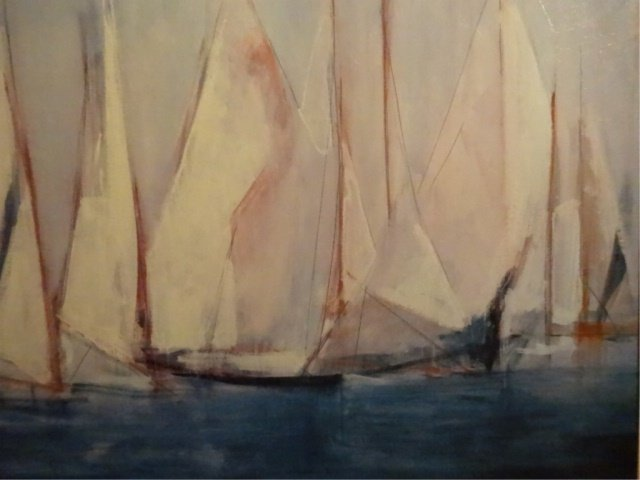 LARGE ENHANCED GICLEE ON BOARD, SAILBOATS, ARTIST - 2