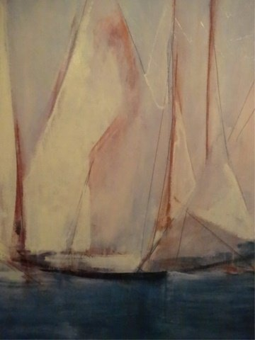 LARGE ENHANCED GICLEE ON BOARD, SAILBOATS, ARTIST - 4