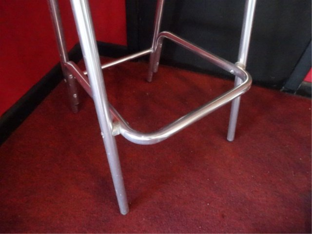 5 PC ALUMINUM BISTRO TABLE AND 4 BARSTOOLS, BY FLORIDA - 8