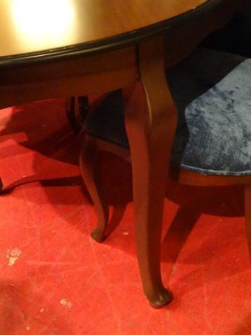 OVAL DINING TABLE WITH 8 CHAIRS AND ONE LEAF, DARK - 5
