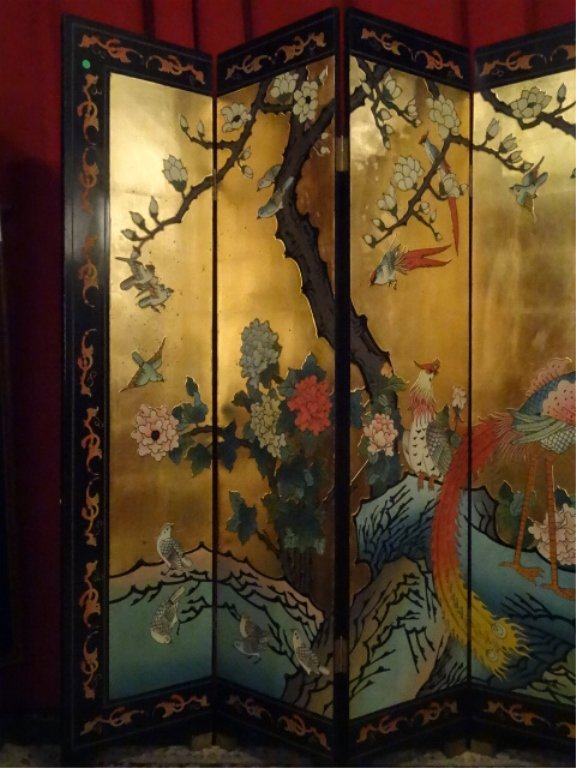 CHINESE CORMOMANDEL SCREEN, GOLD GILT AND PAINTED, 6 - 2