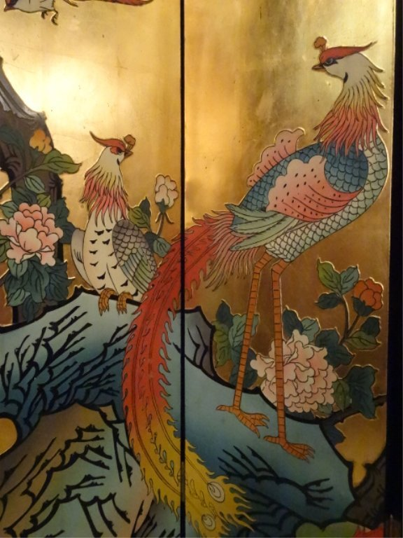 CHINESE CORMOMANDEL SCREEN, GOLD GILT AND PAINTED, 6 - 4