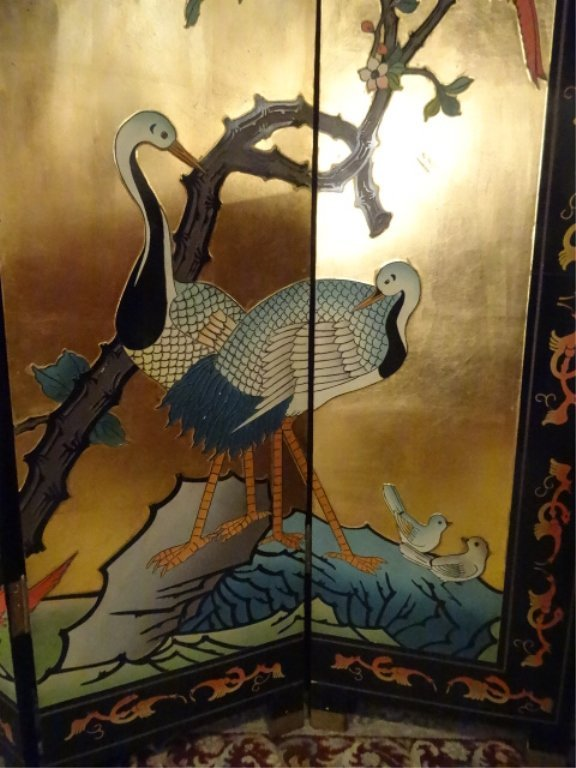 CHINESE CORMOMANDEL SCREEN, GOLD GILT AND PAINTED, 6 - 8