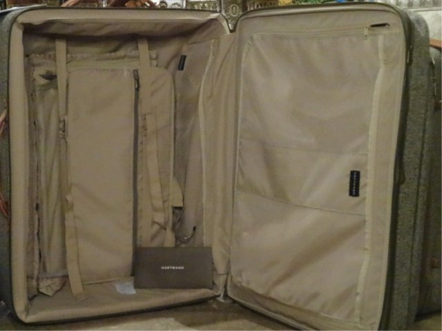 3 PC HARTMANN LUGGAGE, TWEED COLLECTION WITH LEATHER - 10