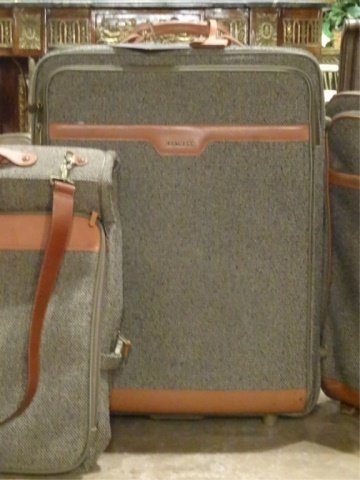 3 PC HARTMANN LUGGAGE, TWEED COLLECTION WITH LEATHER - 4