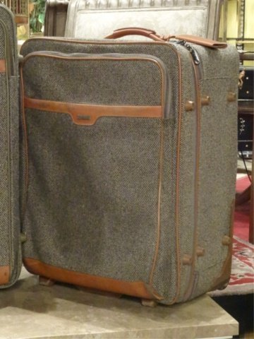 3 PC HARTMANN LUGGAGE, TWEED COLLECTION WITH LEATHER - 5