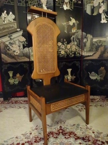 MID CENTURY MODERN VALET CHAIR, 1960'S, WITH TRAY, - 2