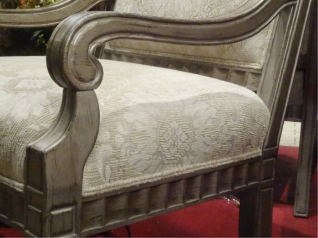 PAIR BERNHARDT LOUIS XVI STYLE ARM CHAIRS, #1 OF TWO - 3