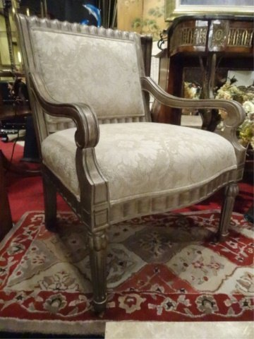 PAIR BERNHARDT LOUIS XVI STYLE ARM CHAIRS, #1 OF TWO - 4