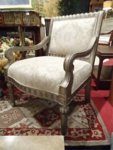 PAIR BERNHARDT LOUIS XVI STYLE ARM CHAIRS, #1 OF TWO - 5