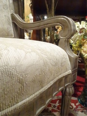 PAIR BERNHARDT LOUIS XVI STYLE ARM CHAIRS, #1 OF TWO - 8
