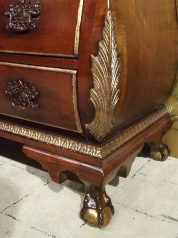 CENTURY FURNITURE CHIPPENDALE CHEST, 4 DRAWERS, GILT - 3