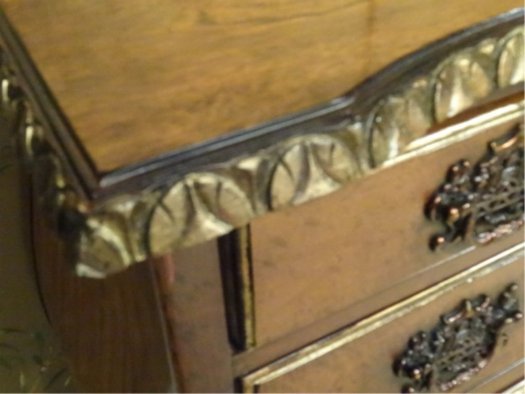 CENTURY FURNITURE CHIPPENDALE CHEST, 4 DRAWERS, GILT - 6