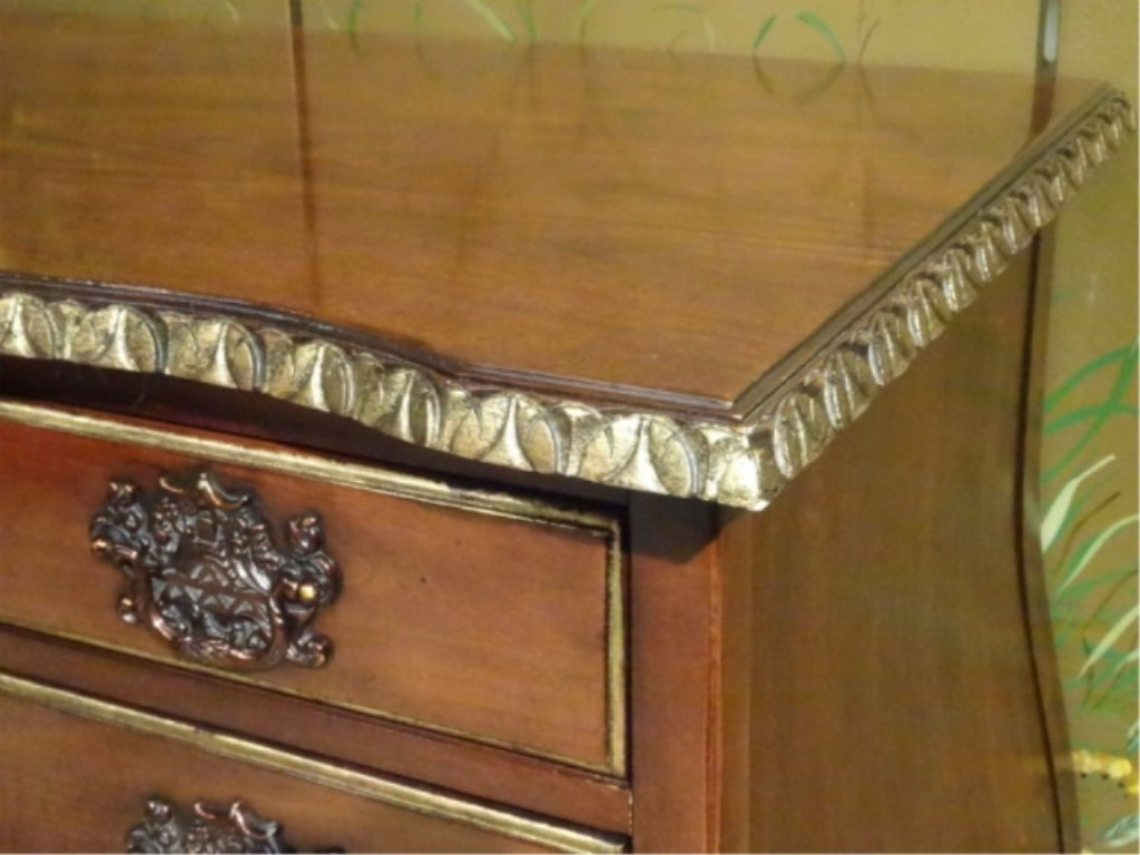 CENTURY FURNITURE CHIPPENDALE CHEST, 4 DRAWERS, GILT - 7