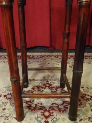 BAMBOO AND WOOD PEDESTAL, VERY GOOD GENTLY USED - 4